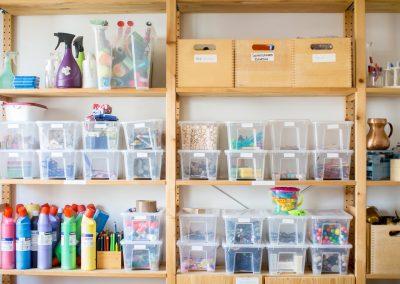 Regal Kinderräume Spielsachen Farben Basteln